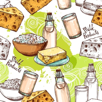 Melk naadloos patroon