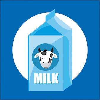 Melk ontwerp over blauwe achtergrond vectorillustratie