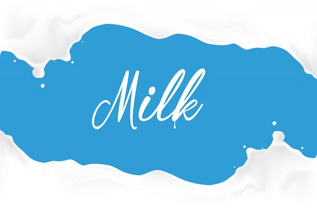 Melk splash illustratie