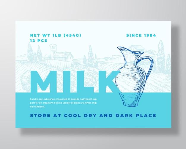 Melk zuivel voedsel labelsjabloon