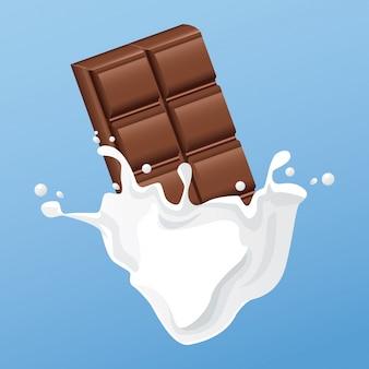 Melkachtige chocoladereep flyer