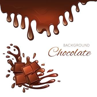 Melkchocoladereep en spatten
