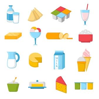 Melkproducten illustratie.