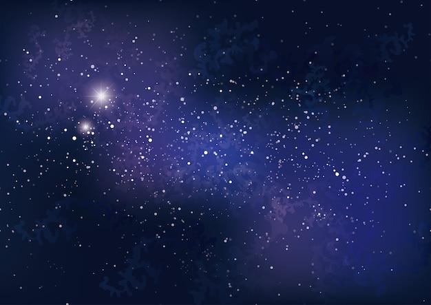 Melkweg achtergrond met sterren en nevel.