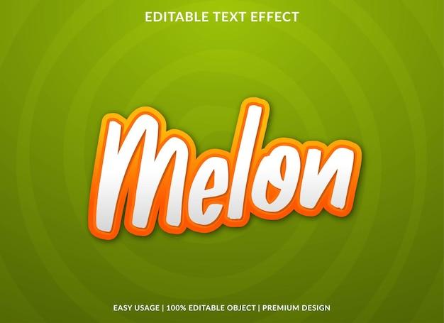 Meloen teksteffect sjabloon premium stijl