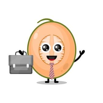 Meloen werkt schattige karaktermascotte