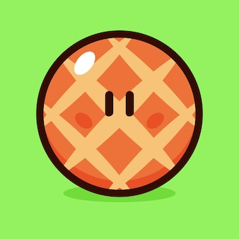 Meloenbroodje cartoon vectorillustratie