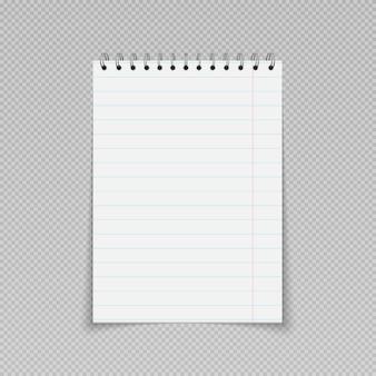 Memoblok dagelijkse planner sjabloon notitieblok leeg papier met binderspiraal