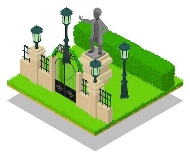 Memorial concept scene