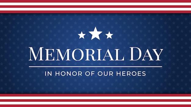 Memorial day achtergrond vectorillustratie