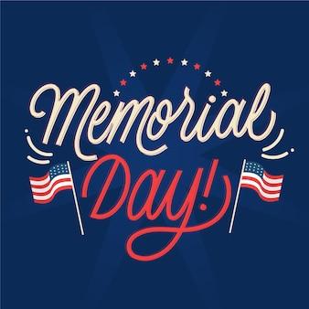 Memorial day belettering van ontwerp