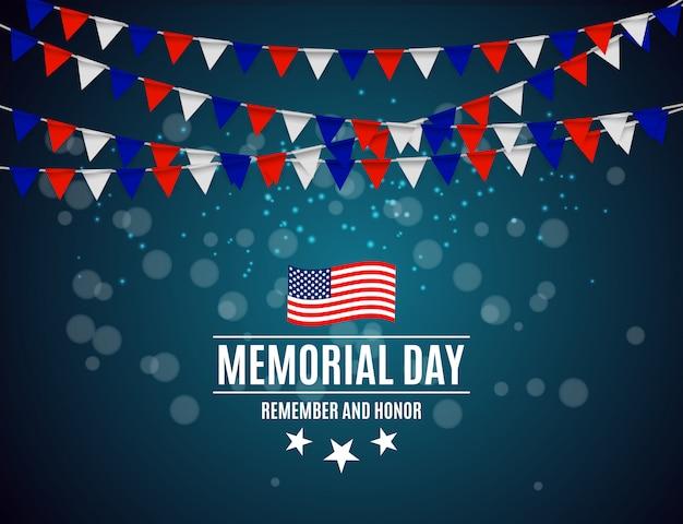 Memorial day op de achtergrond van de vs