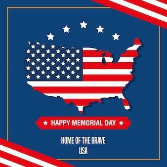 Memorial day poster met kaart