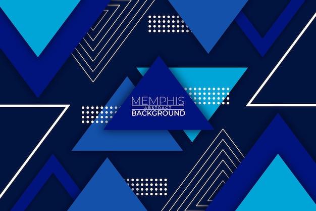 Memphis abstracte achtergrond blauwe stijl