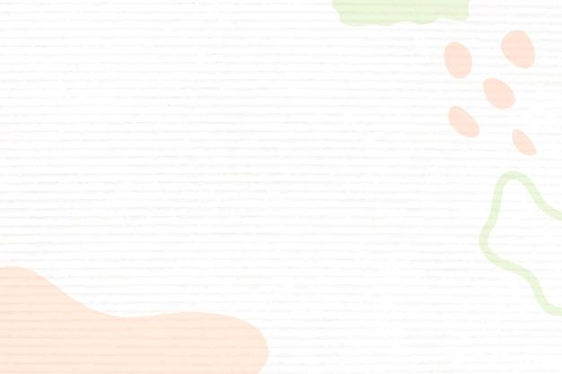 Memphis achtergrond, oranje pastel kleur ontwerp vector