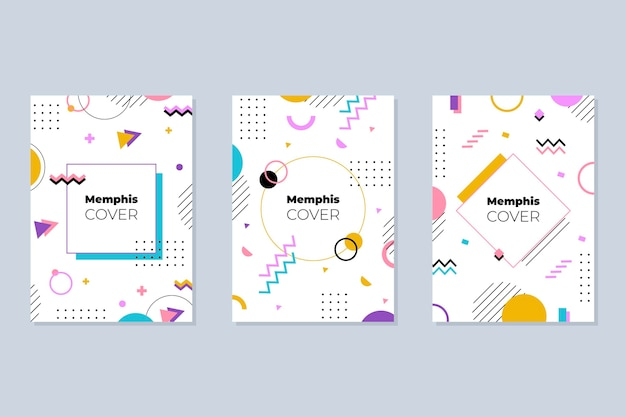 Memphis design cover-collectie