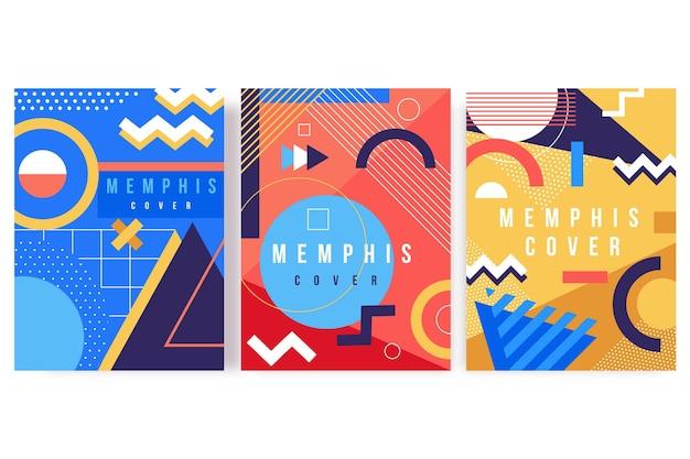 Memphis design cover-collectie