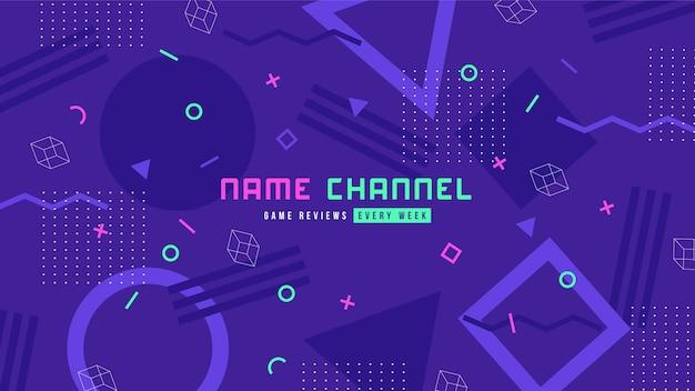 Memphis design gaming youtube channel art