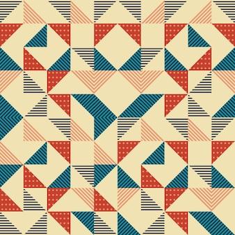 Memphis driehoek naadloze patroon achtergrond