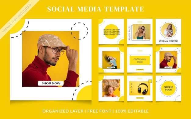 Memphis fashion social media verkooppostsjabloon