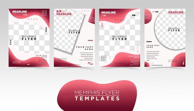 Memphis flyer ontwerpsjablonen