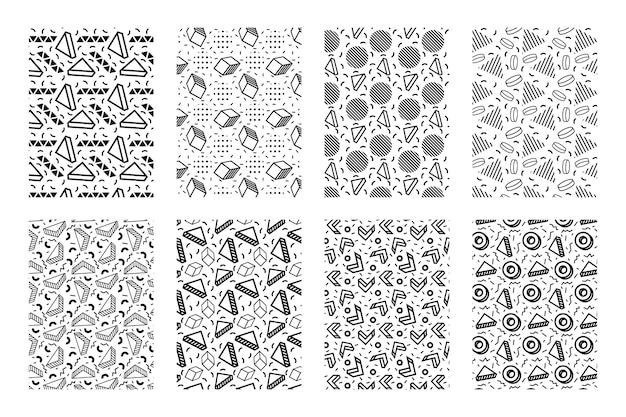 Memphis geometrisch patroon