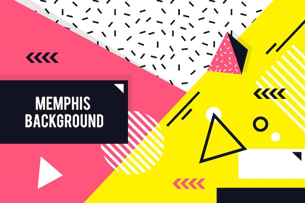 Memphis geometrische achtergrond