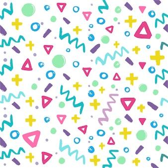 Memphis geometrische naadloze patroon