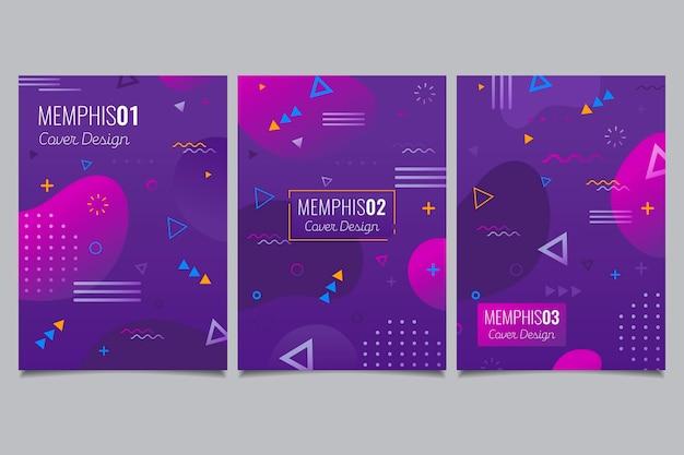 Memphis geometrische omslagset