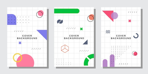 Memphis grid cover-collectie