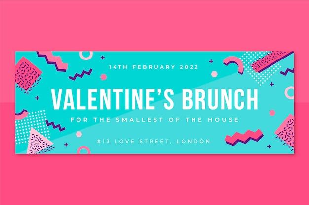Memphis kinderachtige valentijnsdag facebook-omslag