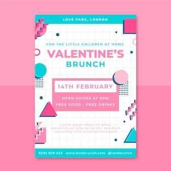 Memphis kinderlijke valentijnsdag poster