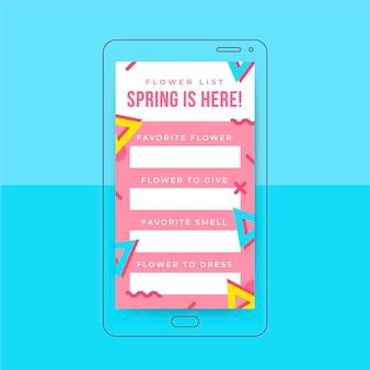 Memphis kleurrijke lente instagram-verhaal