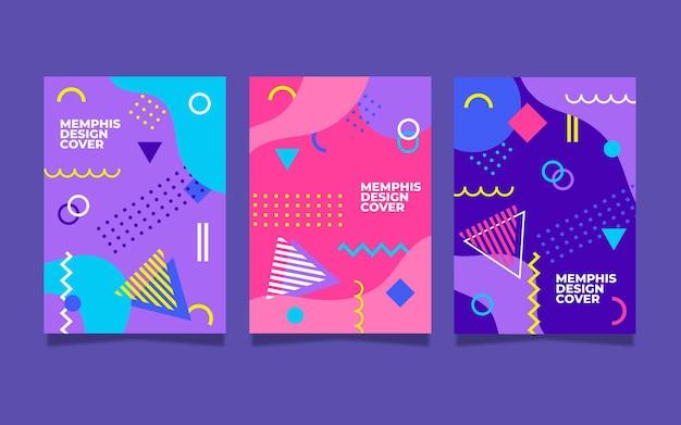 Memphis kleurrijke omslagcollectie