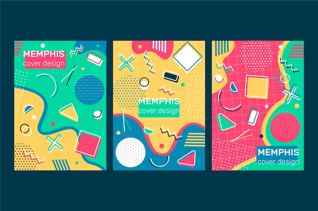 Memphis kleurrijke omslagset
