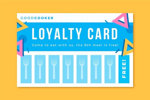 Memphis minimalistische restaurant-klantenkaart