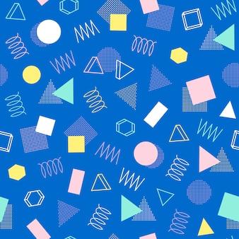 Memphis naadloze patronen. 80-90s. abstracte wirwartexturen.