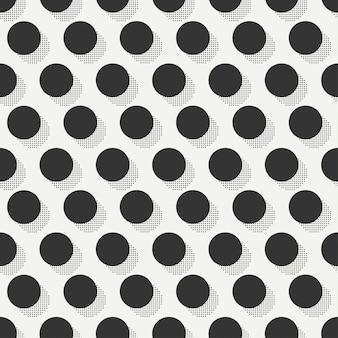 Memphis naadloze patronen. abstracte wirwartexturen. cirkel, rond, punt.