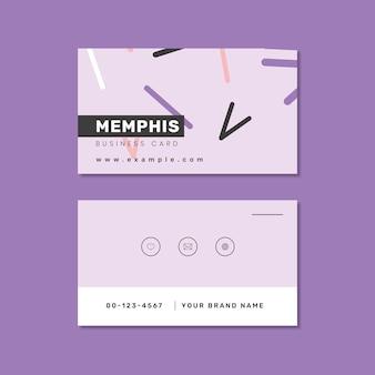 Memphis naamkaart ontwerp