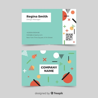 Memphis ontwerpsjabloon voor visitekaartjes
