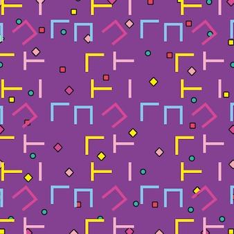 Memphis patronen kleurrijke achtergrond Premium Vector