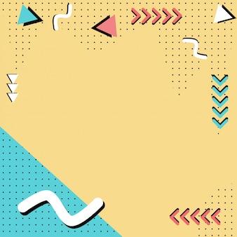 Memphis patroon stijlen achtergrond