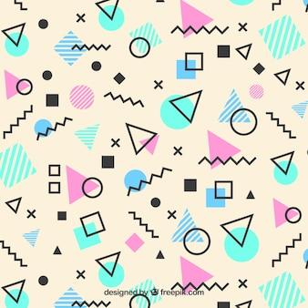 Memphis patroon van geometrische vormen