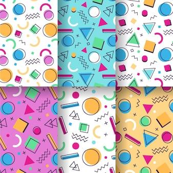 Memphis patroonpakket ontwerp