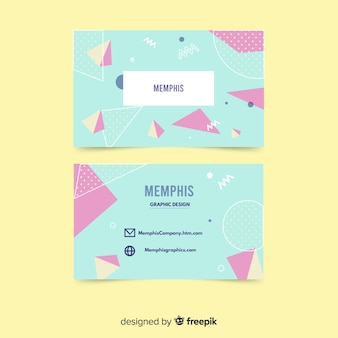 Memphis-sjabloon voor visitekaartjes