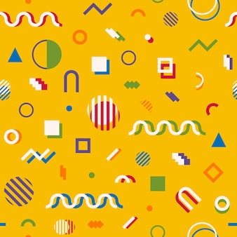 Memphis stijl abstracte geometrische naadloze patroon