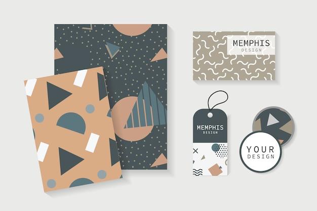 Memphis-stijl briefpapier