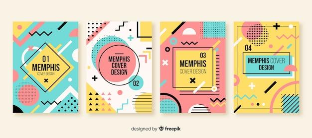 Memphis-stijl brochure set