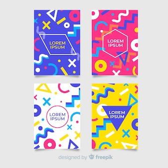 Memphis stijl brochure sjabloon collectie