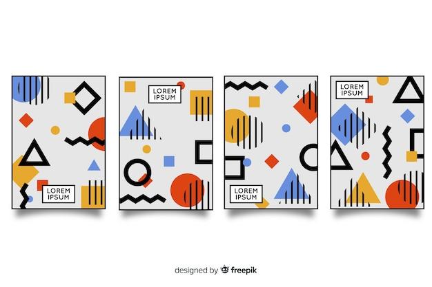 Memphis-stijl brochurepakket